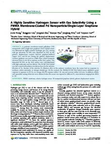 A Highly Sensitive Hydrogen Sensor with Gas Selectivity Using a ...