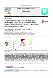 A highly sensitive liquid chromatography electrospray ... - UCL Discovery