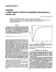 A Highly Sensitive Method for Quantitative Determination of ... - NCBI