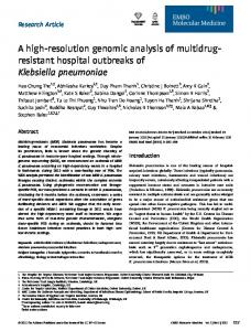 A highresolution genomic analysis of ... - Semantic Scholar