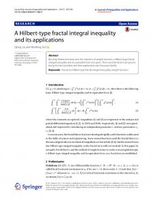 A Hilbert-type fractal integral inequality and its