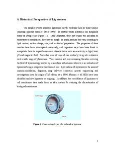 A Historical Perspective of Liposomes