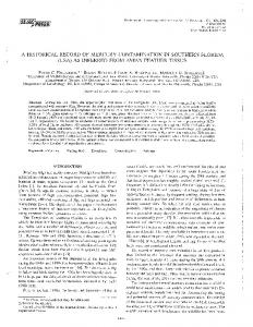 a historical record of mercury contamination in southern florida