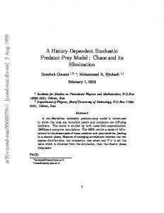 A History-Dependent Stochastic Predator-Prey Model: Chaos and its ...