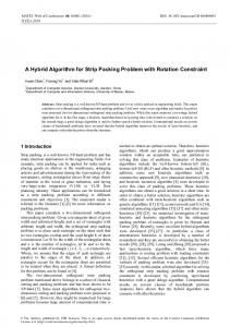 A Hybrid Algorithm for Strip Packing Problem with Rotation Constraint