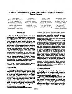 A Hybrid Artificial Immune Genetic Algorithm with Fuzzy ... - CiteSeerX