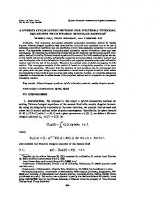 A HYBRID COLLOCATION METHOD FOR VOLTERRA INTEGRAL ...