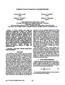 A Hybrid Current Control for a Controlled Rectifier ... - IEEE Xplore