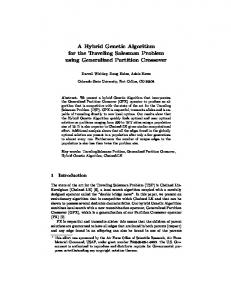 A Hybrid Genetic Algorithm for the Traveling ... - Semantic Scholar