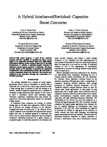 A Hybrid Interleaved/Switched-Capacitor Boost Converter - IEEE Xplore
