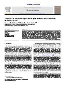 A hybrid LDA and genetic algorithm for gene selection and ...