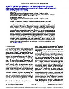 A hybrid method for predicting the microstructure of polymers with ...