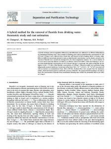 A hybrid method for the removal of fluoride from
