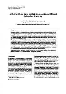 A Hybrid Monte Carlo Method for Accurate and Efficient ... - CiteSeerX