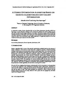a hybrid optimization algorithm based on genetic ... - Aircc Digital Library