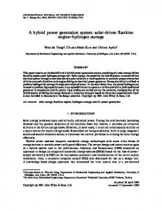 A hybrid power generation system: solar-driven ... - Wiley Online Library