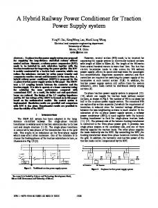 A Hybrid Railway Power Conditioner for Traction Power Supply System