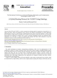 A Hybrid Routing Protocol for VANET Using Ontology - Science Direct