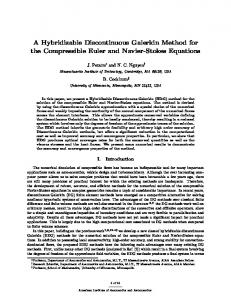 A Hybridizable Discontinuous Galerkin Method for the Compressible ...