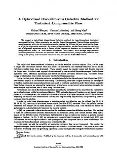 A Hybridized Discontinuous Galerkin Method for Turbulent ...