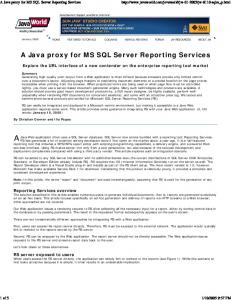 A Java proxy for MS SQL Server Reporting Services - Donners.com