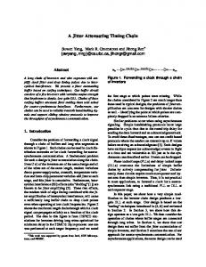 A Jitter Attenuating Timing Chain - CiteSeerX