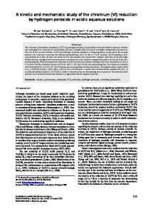 A kinetic and mechanistic study of the chromium (VI ...