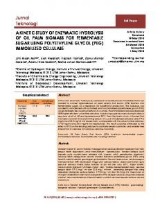 A KINETIC STUDY OF ENZYMATIC HYDROLYSIS OF OIL PALM