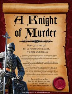 A Knight of Murder