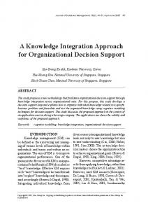 A Knowledge Integration Approach for ... - Semantic Scholar