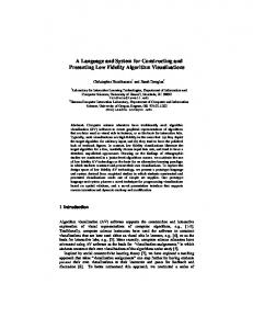 A Language and System for Constructing and ... - Semantic Scholar