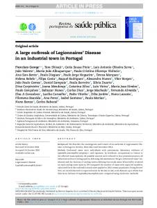 A large outbreak of Legionnaires' Disease in an ...