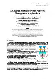 A Layered Architecture for Network Management ... - Semantic Scholar