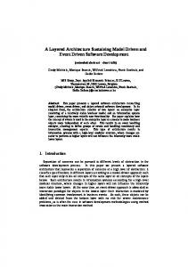 A Layered Architecture Sustaining Model Driven ... - Semantic Scholar