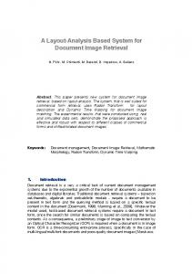 A layout-analysis based system for document image retrieval (PDF ...