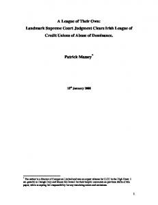 A League of Their Own - Maynooth University ePrints and eTheses ...