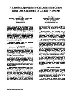 A Learning Approach for Call Admission Control ... - Semantic Scholar