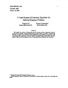 A Least Squares Q-Learning Algorithm for Optimal Stopping ... - MIT