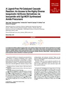 A Ligand-Free Pd-Catalyzed Cascade Reaction - American Chemical ...