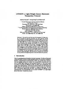 a Light-Weight Secure Electronic Transaction ... - Semantic Scholar