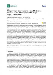 A Lightweight Convolutional Neural Network Based on Visual ... - MDPI