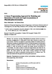 A Linear Programming Approach for Modeling and