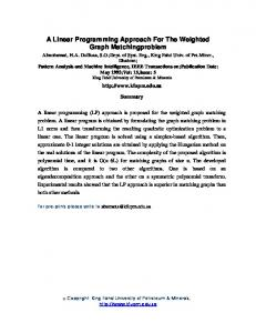 A Linear Programming Approach For The Weighted ... - KFUPM ePrints