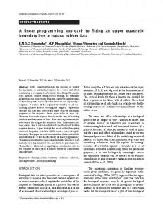 A linear programming approach to fitting an upper quadratic boundary