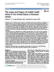 a literature review - Mobile Health Map