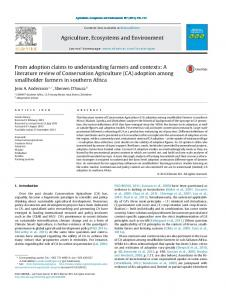 A literature review of Conservation Agriculture - cimmyt