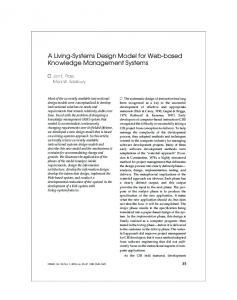A Living-Systems Design Model for Web-based ... - CiteSeerX