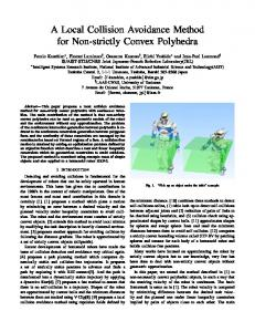A Local Collision Avoidance Method for Non-strictly ... - CiteSeerX