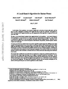A Local-Search Algorithm for Steiner Forest