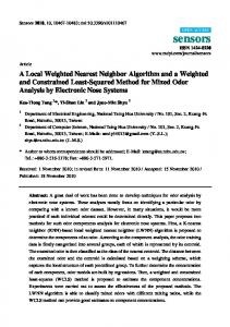 A Local Weighted Nearest Neighbor Algorithm and a ... - CiteSeerX